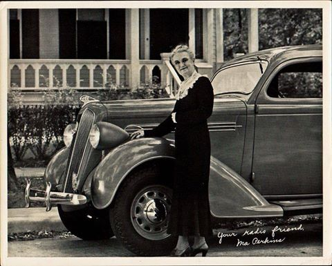 Ma Perkins and her Plymouth