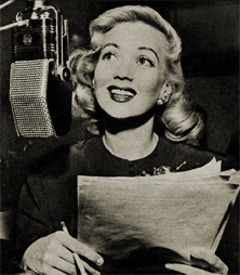 Ann Sothern rehearsing for the M-G-M transcribed run of The Adventures of Maisie.