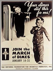 Annual March of Dimes campaign programs were regularly heard over Radio throughout the Golden Age