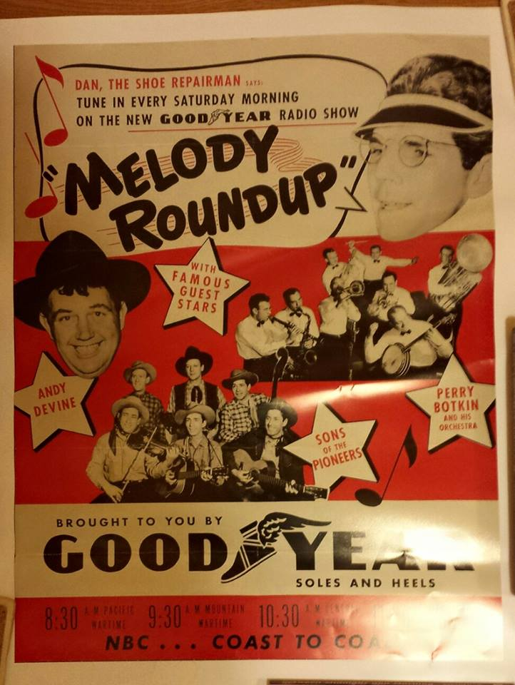 Ad for Good Year Radio Show -- Melody Roundup.