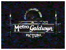 The revised Metro-Goldwyn logo, ca. 1922