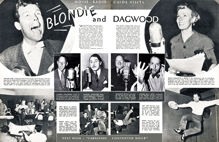 Movie - Radio Guide Visits Blondie and Dagwood from September 6 1941