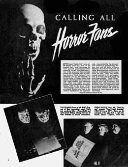 Article on Dark Fantasy from May 16 1942 issue of Movie-Radio Guide. The article is itself promoted in Dark Fantasy Episode No. 26 Funeral Arrangements Completed.
