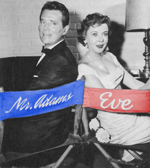 Howard Duff and Ida Lupino in publicity still from their Television program Mr. Adams and Eve, ca. 1957