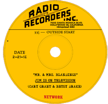 Mr. and Mrs. Blandings transcription label from February 25 1951 recording
