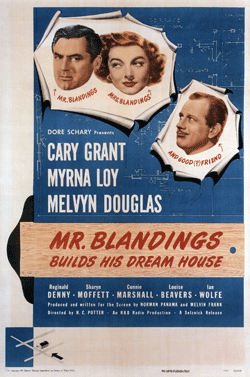 Mr. Blandings Builds His Dream House poster from the RKO movie (1948)