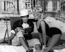 James Stewart with Valerie Varda in Mr. Hobbs Takes A Vacation (1962)