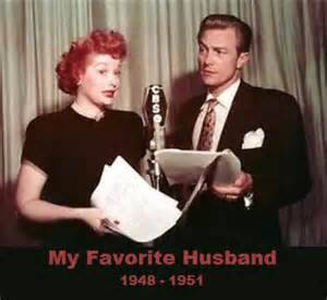 My Favorite Husband began on CBS Radio with Lucille Ball and Richard Denning as Liz and George Cugat.