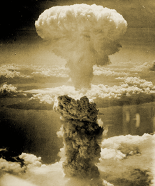 The second public deployment of nuclear energy - the gigantic mushroom cloud over Nagasaki