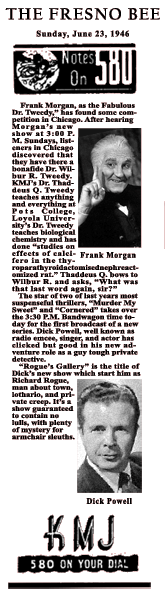 Announcement of Rogue's Gallery move from MBS to NBC for Summer 1946 Run