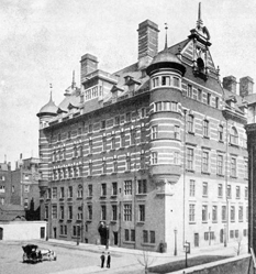 New Scotland Yard at Thames Embankment circa 1892