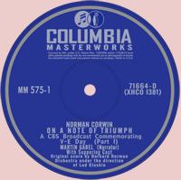 On A Note of Triumph 78 RPM Record Label, ca. 1944
