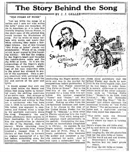 The Story Behind The Song weekly feature. Home Sweet Home from June 20 1926