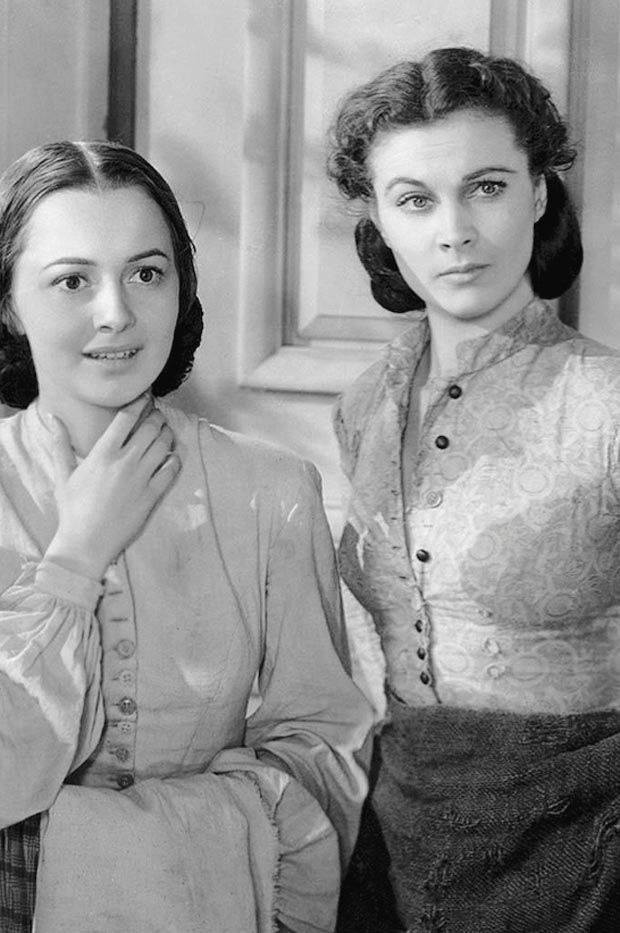 Olivia de Havilland and Vivien Leigh in 'Gone with the Wind' - 1939