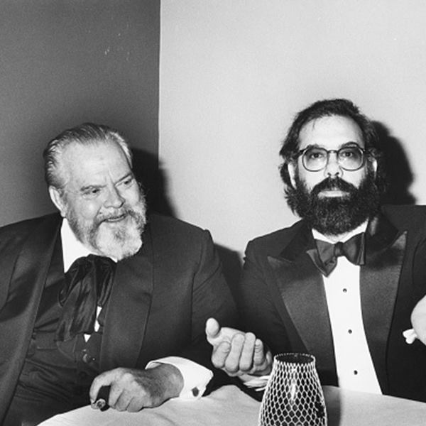 Orson Welles with Francis Ford Coppola.