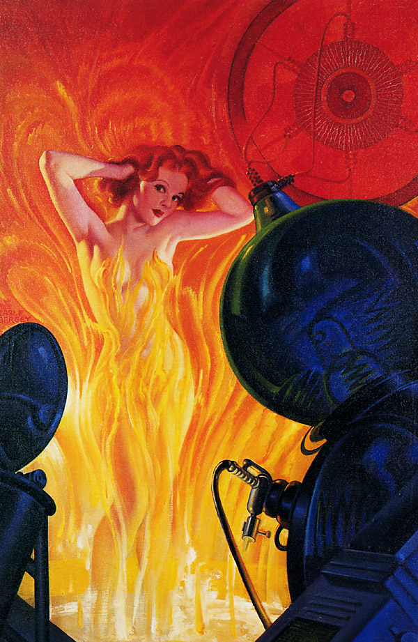 Pulp art Earle Bergey