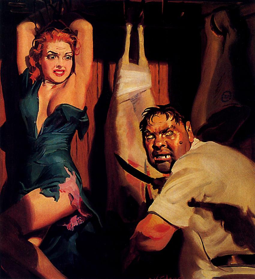 Pulp art H J Ward