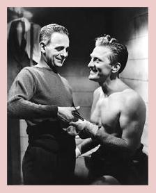 Paul Stewart and Kirk Douglas in Champion (1949)