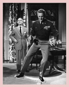 Paul Stewart and Kirk Douglas in Top Secret Affair (1957)