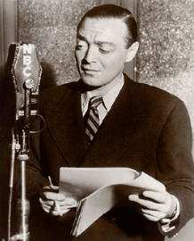 Peter Lorre performs over NBC, ca. 1945