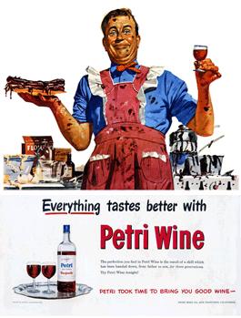 Petri Wine Ad from Life Magazine 1948