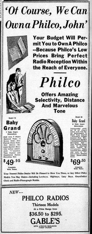Philco Radio ad