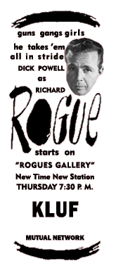 Sep. 27, 1945 Premiere Spot Ad for Rogue's Gallery