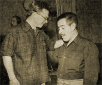 Mickey Rooney discusses a Shorty Bell script with William N. Robson