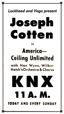 America--Ceiling Unlimited spot ad from October 31st 1943