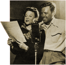 Lurene Tuttle rehearses with Dick Haymes for Everything for The Boys