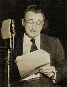 John Brown at CBS mike circa 1947