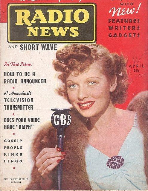 1938 Radio News Lucille Ball