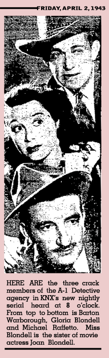 News clipping for I Love A Mystery from April 2 1943