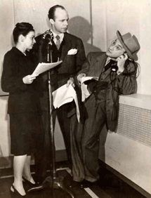Raymond Edward Johnson with Arch Oboler circa 1947