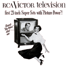 RCA Victor Television sponsored 30 minutes of each The Big Show broadcast