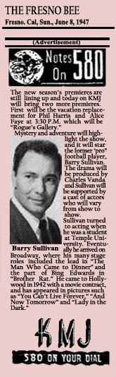 Announcement of Rogue's Gallery NBC Summer 1947 Run