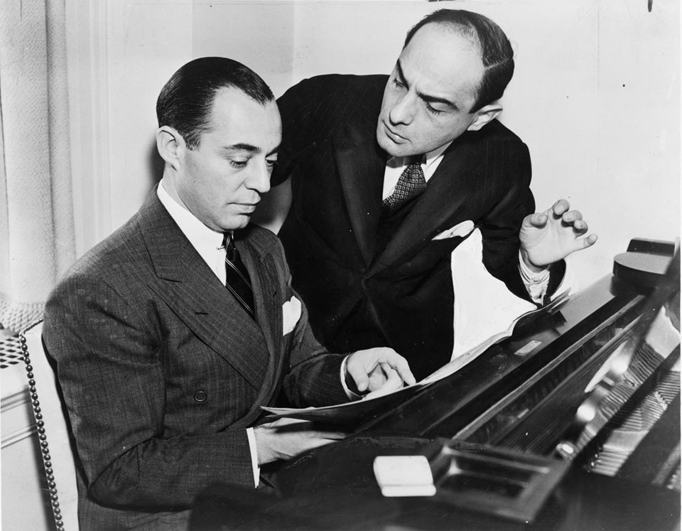 Richard Rodgers (seated) with Lorenz Hart, 1936