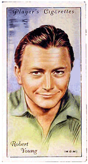 Robert Young Player's Cigarettes card, c. 1935