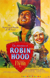 Rathbone's portrayal of Sir Guy of Gisbourne in The Adventures of Robin Hood (1938) provided him a major boost to his career.