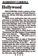 October 12, 1953 news clipping from Hollywood