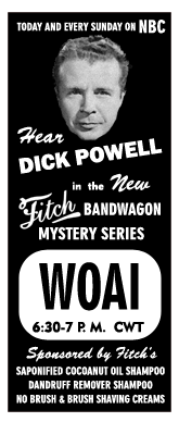 June 24, 1945 Spot Ad for Fitch Bandwagon Mysteries