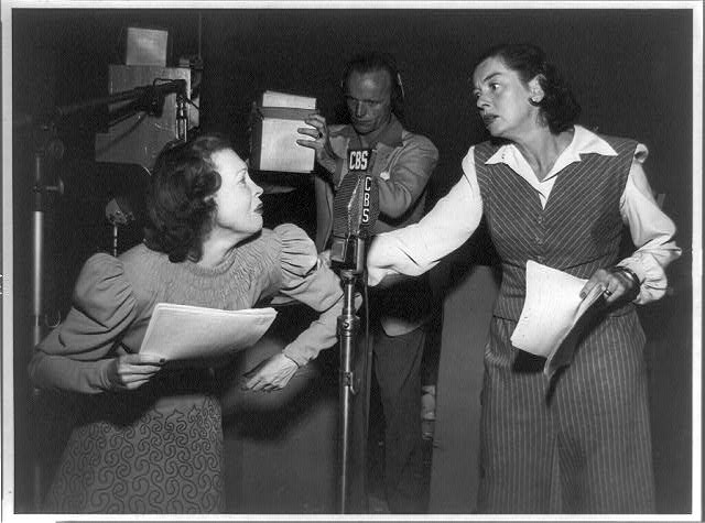 Rosalind Russell right and Lurene Tuttle left in The Sisters on Suspense