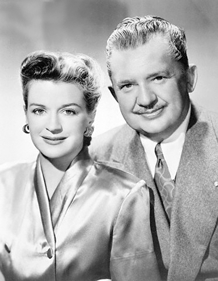 Rosemary DeCamp and Jean Hersholt, stars of Dr. Christian