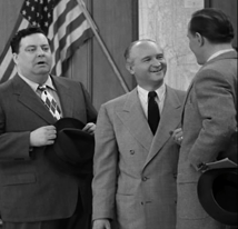 Les Damon with Jackie Gleason in The Honeymooners episode, Safety Award, from 1956
