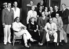Screen Actors' Guild founders pose for an impromptu 1940 photo.