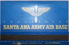 Santa Ana Air Base matchbook (cover)