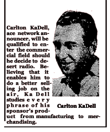 Carlton KaDell article from September 1937