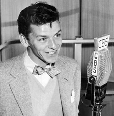 Sinatra at the mike for CBS during his 'bobby-soxer' fame, ca. 1942