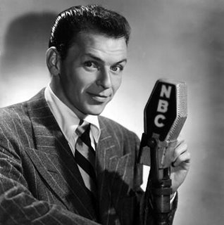 Frank Sinatra at the mike for NBC, ca. 1947