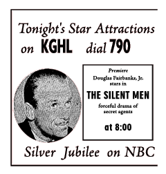 Spot ad for premiere of The Silent Men from October 14 1951